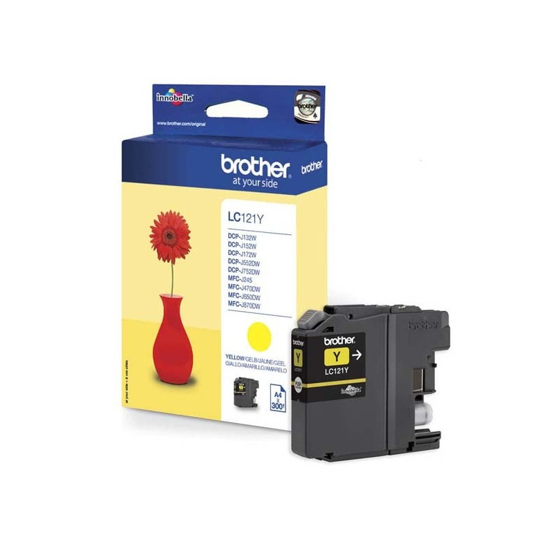 Brother originál ink LC-121Y, yellow, 300str., Brother DCP-J552DW, MFC-J470DW LC121Y