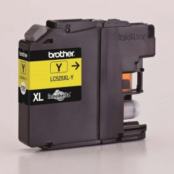 Brother originál ink LC-525XLY, yellow, 1300str., Brother DCP J100,...