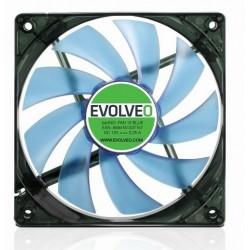EVOLVEO 12L1BL ventilátor 120mm, 4 LED modrý, 3pin FAN 12 BLUE