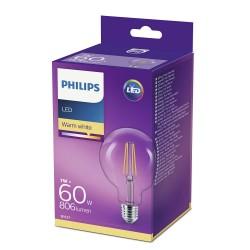 PHILIPS LED žárovka Globe G93 230V 7W E27 noDIM Čirá 806lm 2700K...