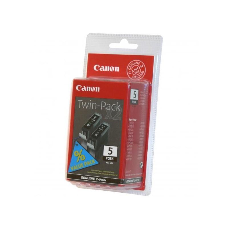 Canon originál ink PGI5BK, black, 0628B025, 0628B030, 2ks, Canon iP3300, 3500, 4200, 4300, 4500, 5200R