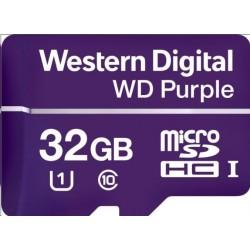 WD MicroSDHC karta 32GB Purple WDD032G1P0C Class 10, 16TBW