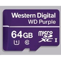 WD MicroSDXC karta 64GB Purple WDD064G1P0C Class 10, 16 TBW
