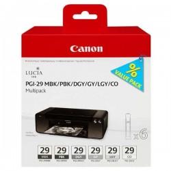 Canon originál ink PGI-29 MBK/PBK/DGY/GY/LGY/CO Multi pack,...