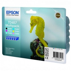 Epson originál ink C13T04874010, CMYK/light C/light M, 6x13ml photo mult