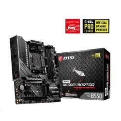 MSI MB Sc AM4 MAG B550M MORTAR, AMD B550, 4xDDR4, VGA, mATX