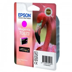 Epson originál ink C13T08734010, magenta, 11,4ml, Epson Stylus Photo R1900