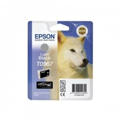 Epson originál ink C13T09674010, light black, 13ml, Epson Stylus Photo R2880