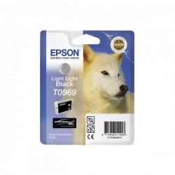 Epson originál ink C13T09694010, light light black, 13ml, Epson Stylus Photo R2880