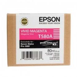 Epson originál ink C13T580A00, vivid magenta, 80ml, Epson Stylus Pro 3800