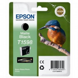 Epson originál ink C13T15984010, matte black, 17ml, Epson Stylus Photo R2000