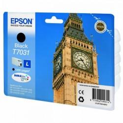 Epson originál ink C13T70314010, L, black, 1200str., Epson WorkForce Pro WP4000, 4500 series