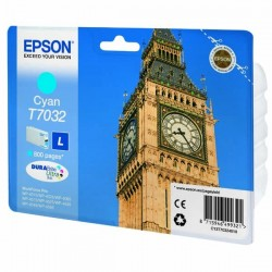 Epson originál ink C13T70324010, L, cyan, 800str., Epson WorkForce Pro WP4000, 4500 series