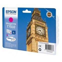 Epson originál ink C13T70334010, L, magenta, 800str., Epson WorkForce Pro WP4000, 4500 series