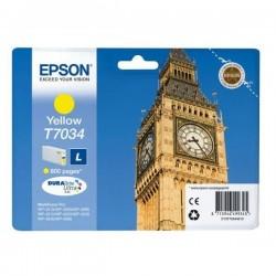 Epson originál ink C13T70344010, L, yellow, 800str., Epson WorkForce Pro WP4000, 4500 series