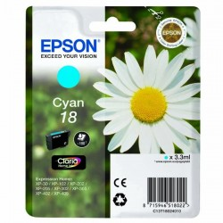 Epson originál ink C13T18024010, T180240, cyan, 3,3ml, Epson Expression Home XP-102, XP-402, XP-405, XP-302
