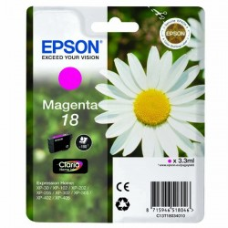 Epson originál ink C13T18034010, T180340, magenta, 3,3ml, Epson Expression Home XP-102, XP-402, XP-405, XP-302