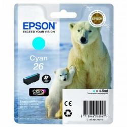 Epson originál ink C13T26124010, T261240, cyan, 4,5ml, Epson Expression Premium XP-800, XP-700, XP-600