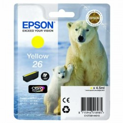Epson originál ink C13T26144010, T261440, yellow, 4,5ml, Epson Expression Premium XP-800, XP-700, XP-600