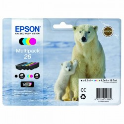 Epson originál ink C13T26164010, T261640, CMYK, 3x4,5/6,2ml, Epson...