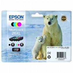 Epson originál ink C13T26364020, T263640, 26XL, CMYK, 3x9,7/12,2ml, Epson Expression Premium XP-800, XP-700, XP-600