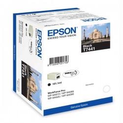 Epson originál ink C13T74414010, black, 10000str., 181ml, high capacity, Epson WorkForce Pro WP-M4525 DNF, WP-M4015 DN