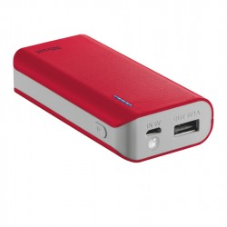 TRUST Primo PowerBank 4400 Portable Charger - red 21226