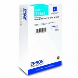 Epson originál ink C13T756240, T7562, L, cyan, 1500str., 14ml, 1ks, Epson WorkForce Pro WF-8590DWF