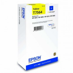 Epson originál ink C13T756440, T7564, L, yellow, 1500str., 14ml, 1ks, Epson WorkForce Pro WF-8590DWF