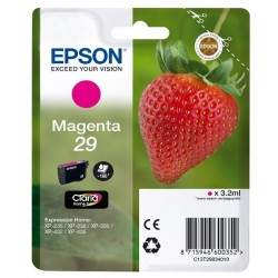 Epson originál ink C13T29834010, T29, magenta, 3,2ml, Epson Expression Home XP-235,XP-332,XP-335,XP-432,XP-435
