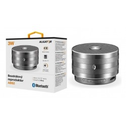 Bluetooth kovový reproduktor ALIGATOR ABS2, micro SD, černá ABS2BK