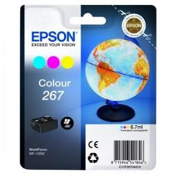 Epson originál ink C13T26704010, 267, color, 6,7ml, Epson WF-100W
