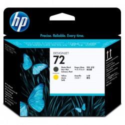 HP originál tlačová hlava C9384A, No.72, matte black/yellow, HP Designjet T1100, T770