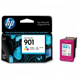 HP originál ink CC656AE#UUQ, No.901, color, 360str., 9ml, HP...