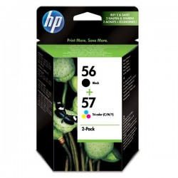 HP originál ink SA342AE, No.56 + No.57, black/color, 520/500str., 2ks, HP 2-Pack, C6656 + C6657
