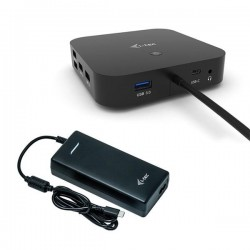 i-tec USB-C Dual Display Docking Station with Power Delivery 100 W...
