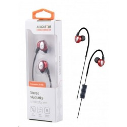 Aligator stereo sluchátka AE03 s mikrofonem, 3,5 mm jack, červená...