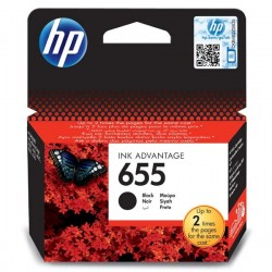 HP originál ink CZ109AE#BHK, No.655, black, 550str., HP Deskjet Ink Advantage 3525, 5525, 6525, 4615 e-AiO