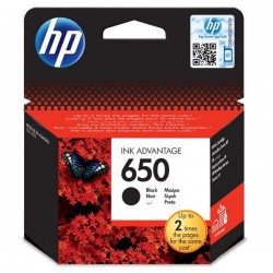 HP originál ink CZ101AE#BHK, No.650, black, 360str., 6,5ml, HP Deskjet Ink Advantage 2515AiO,3515e-Ai0,3545,4515