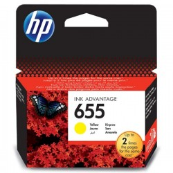 HP originál ink CZ112AE#BHK, No.655, yellow, 600str., HP Deskjet Ink Advantage 3525, 5525, 6525, 4615 e-AiO
