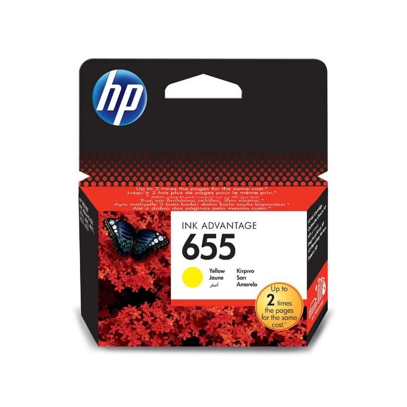 HP originál ink CZ112AE#BHK, No.655, yellow, 600str., HP Deskjet Ink Advantage 3525, 5525, 6525, 4615 e-AiO