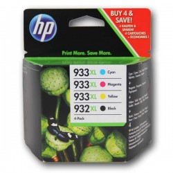 HP originál ink C2P42AE, No.932XL/No.933XL, cyan/magenta/yellow/black, 825/1000str., 4ks, HP