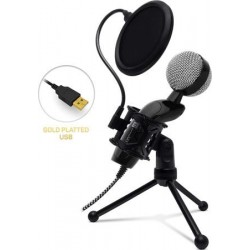 CONNECT IT YouMic Plus mikrofon USB s POP filtrem, pozlacený...