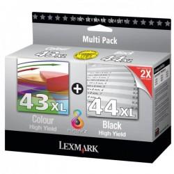 Lexmark originál ink 80D2966, black/color, #43XL+#44XL, Lexmark X4850, X4875, X4875, X4950, X4950, X4975VE, X7550