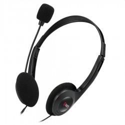 C-TECH Sluchátka s mikrofonem MHS-03E, černá