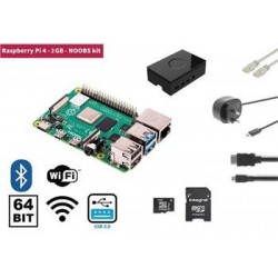Raspberry Pi 4, 2GB Starter Kit, WiFi, Bluetooth  NOOBS software...