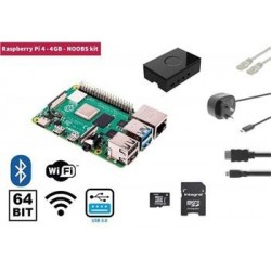 Raspberry Pi 4, 4GB Starter Kit, WiFi, Bluetooth  NOOBS software...
