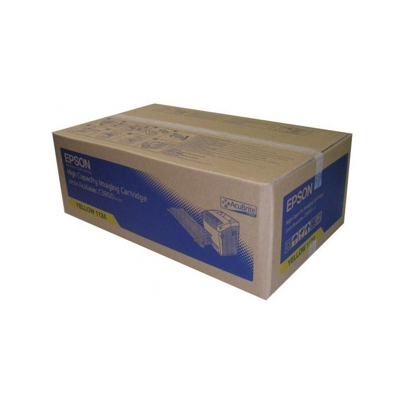 Epson originál toner C13S051124, yellow, 9000str., Epson AcuLaser C3800DN, 3800DTN, 3800N