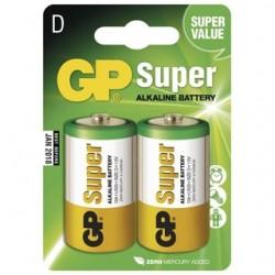 GP Batéria alkalická SUPER D 2ks R20 2BL 1013412000