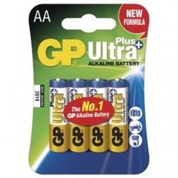 GP Batérie Ultra Alkalické AA 4ks 15AUP LR6 BL 1017214000